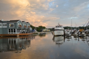 View from bridge at Kennebunkport, ME